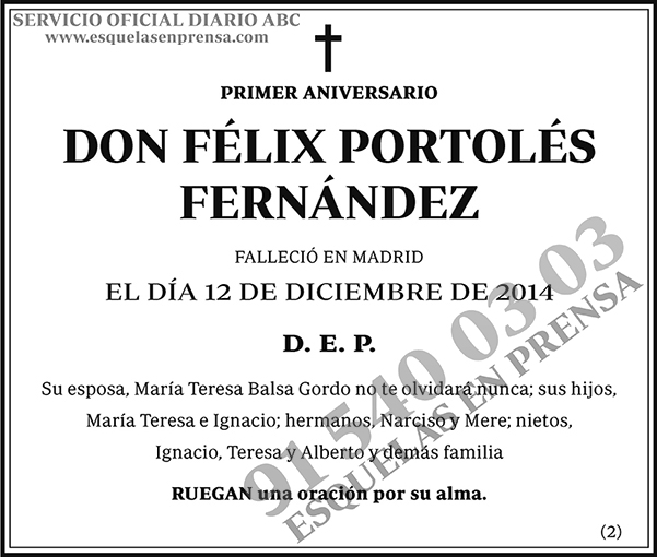 Félix Portolés Fernández